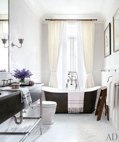 Brooke Shield's Manhattan townhouse as seen in Architectural Digest