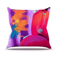 KESS InHouse OC1017AOP03 18 x 18-Inch 'Oriana Cordero Vespa II Pink Purple' Outdoor Throw Cushion - Multi-Colour