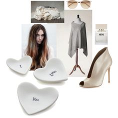 thrusday outfit 01 by anna-suchodolska on Polyvore featuring Gianvito Rossi, Witchery, Bella Freud and Crate and Barrel
