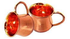 STREET CRAFT Set of-2, 100% Authentic Copper Old Fashion Smooth Moscow Mule Mug Copper Moscow Mule Mugs Copper Handle. >>> Read more reviews of the product by visiting the link on the image.