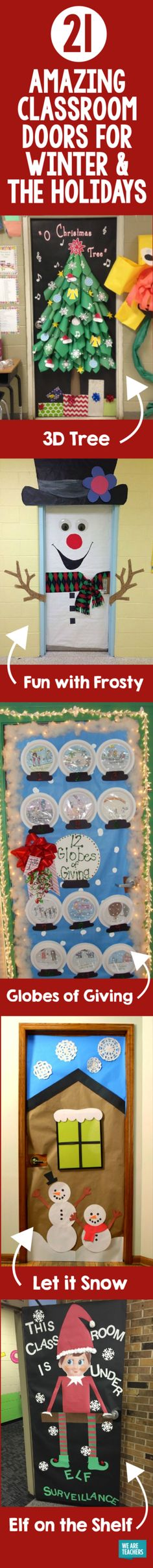 Amazing Classroom Doors for Winter and the