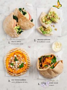 23 Easy And Inexpensive Meals You Can Make With Pita Bread Easy Pita Lunch Ideas<br> Keep these in your back pocket. (Get it?) Easy Pita Recipe, Pita Recipes, Easy Sandwich Recipes, Vegetarian Recipes, Healthy Recipes, Vegetarian Lunch, Vegetarian Options, Free Recipes, Salad Recipes