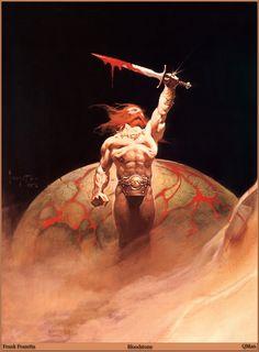 Karl Edward Wagner's Bloodstone Art by Frank Frazetta