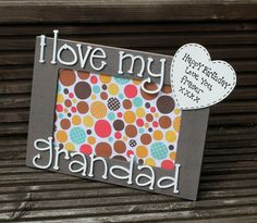 I Love my Grandad Personalised wooden photograph by scratchycat