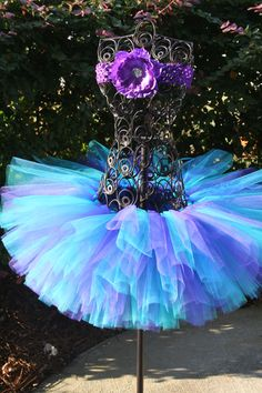 Items similar to Butterfly Kiss Tutu Purple, Teal, And Blue Tutu Baby And Girls Birthday Tutu With Flower Headband Custom Made To Order on Etsy Purple Tutu, Turquoise And Purple, Tutu Costumes, Halloween Costumes, How To Make Tutu, Birthday Tutu, Birthday Ideas, Little Mermaid Parties, Butterfly Kisses