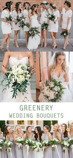 Greenery Wedding Bouquet - Greenery Wedding Decor Ideas - Pretty Collected #weddingbouquets #weddingideas