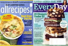 EVERYDAY WITH RACHAEL RAY MAGAZINE MAY 2014 + ALLRECIPES BEST BROWNIES EVER NEW