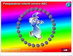 """Pasapalabra infantil sonoro ABC"" Online Gratis, Apps, Movie Posters, School, Teaching Resources, Special Education, Speech Language Therapy, Film Poster, Popcorn Posters"