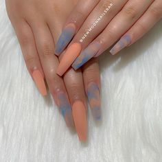 Hottest Fall Frosted Coffin Nails Designs Are you still looking for the best matte nails this fall? Look at our carefully prepared hottest fall frosted coffin nails designs. Hope to give you a lot of inspiration. Summer Acrylic Nails, Best Acrylic Nails, Summer Nails, Full Set Acrylic Nails, Colored Acrylic Nails, Acrylic Nail Art, Spring Nails, Aycrlic Nails, Hair And Nails