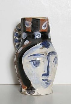 Pablo Picasso, Tete Piente, Turned Ceramic Pitcher
