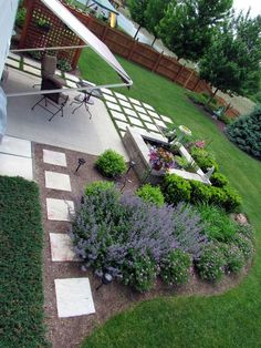 DIY Beautiful Patio Oasis 2019 a little piece of heaven at home landscape outdoor living patio ponds water features A overhead view The post DIY Beautiful Patio Oasis 2019 appeared first on Backyard Diy. Backyard Patio Designs, Front Yard Landscaping, Big Backyard, Backyard Ideas, Backyard Pavers, Landscaping Tips, Patio Ideas, Concrete Paver Patio, Driveway Pavers