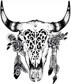 Cow Skull and Feather Image Design Dowload Free Image Tattoo Designs - FreeImageDesigns. Bull Skull Tattoos, Bull Skulls, Deer Skulls, Animal Skulls, Animal Skull Tattoos, Future Tattoos, Love Tattoos, New Tattoos, Tatoos