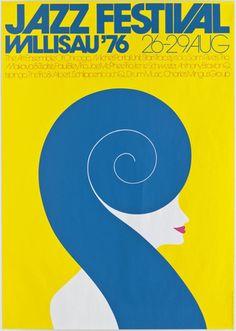 By Niklaus Troxler (Swiss, b.1947), 1 9 7 6, Jazz Festival Willisau '76.