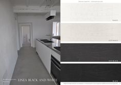 #kitchens #microcemento #black and #white