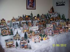 christmas villages one more time christmas village display ideas christmas village was built by doug