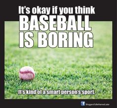 LOL. I'm going to have to remember this the next time someone tells me baseball moves too slow.