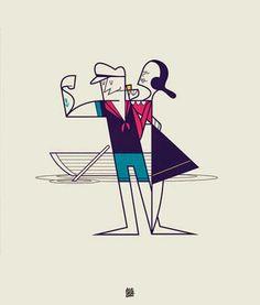 Área Visual - Blog de Arte y Diseño: That's Amore!. Ilustraciones de Ale Giorgini