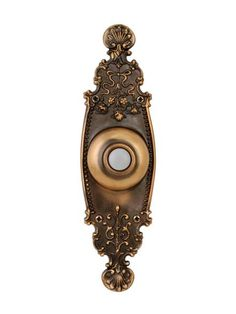 Crest Burnished Brass Doorbell Button with LED - Doorbell Cover, Doorbell Button, House Worth, Pintura Exterior, Hgtv Magazine, Square Planters, Outdoor Wall Lantern, Hanging Pendants, Perfect Pillow