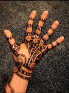 drawing art tattoos hand tattoo ink doodle pen steampunk Robot sharpie ...