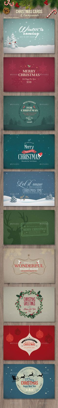 Christmas Cards / Backgrounds Template PSD #design Download: http://graphicriver.net/item/christmas-cards-backgrounds/13788487?ref=ksioks