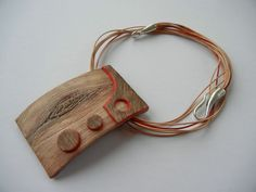 Double sided pendant - side 2 (faux wood)