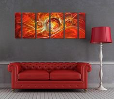 Winpeak Art Original Handcrmade Red Abstract Metal Wall Art Orange Painting Home Decor Large Modern Hanging Contemporary Aluminum Sculpture – Decorative Artwork      Orange wall art is a vivid, playful and fun way to decorate  your home with. Combine orange wall art  with orange home décor accents to create a warm and inviting space.   that friends and family will remember.  In fact people who live in an orange home décor theme tend to be more  adventurous, curious and extroverted.