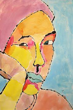 Lafayette Elementary Art: Fifth grade Self Portraits