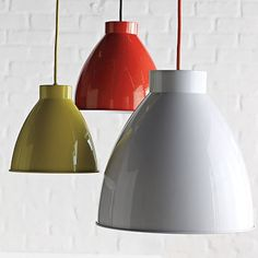 An easy way to add colour or a touch of loft style, is with a feature enamelled pendant