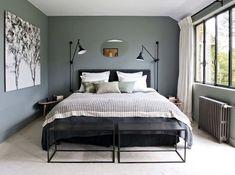Dormitorio en gris antracita