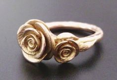 SALE  Roses in Rose Gold  Handsculpted Cast Ring in by jennykim, $780.00