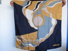 Large Vintage Christian Dior Square Scarf 1970s by ModernSquirrel, $60.00