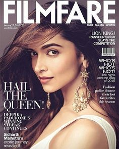 Watch out Deepika Padukone Filmfare Magazine Photoshoot January 2016 here. The ravishing Deepika Padukone once again on the cover page of magazine Filmfare Deepika Padukone Hot, Kareena Kapoor, Priyanka Chopra, Bollywood Stars, Bollywood Fashion, Bollywood Cinema, Bollywood Girls, Vintage Bollywood, Bollywood Celebrities