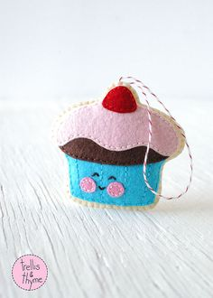 PDF Pattern - Gumdrop Cupcake, Christmas Ornament Pattern, Felt Softie Sewing Pattern