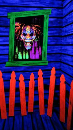 Halloween black light clown room HF member