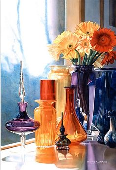 Jewels of the Czar. Art glass watercolor by Paul Jackson.