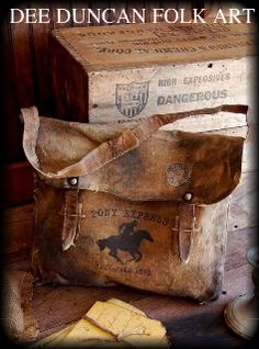 Pony Express Mail Bag so authentic!