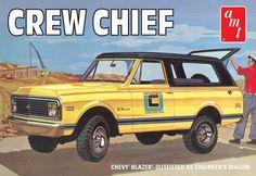 AMT Model Cars 1/25 1972 Crew Chief Chevy Blazer Truck Kit
