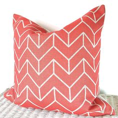 Geometric coral pillow cover geometric coral by AugustPlaceUK