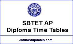 SBTET AP Diploma Time Tables 2017 - C16, C14, C09 & ER-91 Regular/Supply Exams March/April. Download Andhra Pradesh SBTET polytechnic time tables at sbtetap.gov.in.