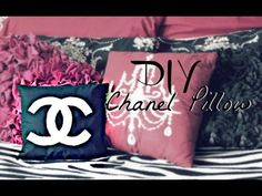 How To: DIY Chanel Inspired Pillow - Belinda Selene - YouTube