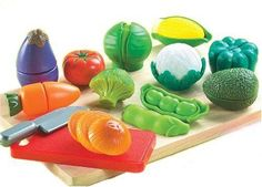 Small World Toys Living - Peel 'N' Play 13 Pc. Playset in Play Food. Play Food Set, Popular Toys, Toy Kitchen, Baby Play, Small World, Stuffed Green Peppers, Pretend Play, Educational Toys, Cool Toys