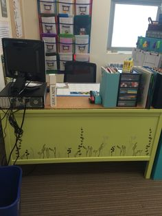 Painted An Old School Teacher Desk Love It So Much More Than The Drawer