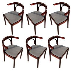 Balsamo / Set of Six Bentwood Dining Chairs $2,950