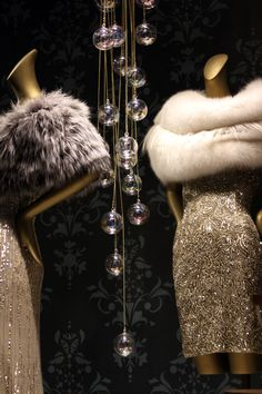 Beaded Dress And Fur Stoles Saks 5th Avenue