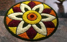 What are Top Flower Rangoli Designs Images 2019 ? - - What are Top Flower Rangoli Designs Images 2019 ? Rangoli is a popular Indian traditional art form that uses. Easy Rangoli Patterns, Easy Rangoli Designs Diwali, Rangoli Simple, Indian Rangoli Designs, Rangoli Designs Latest, Simple Rangoli Designs Images, Rangoli Designs Flower, Free Hand Rangoli Design, Small Rangoli Design