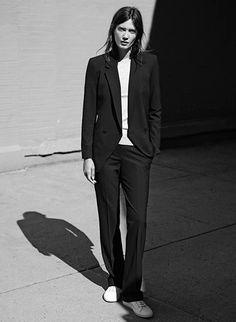 Black suit.