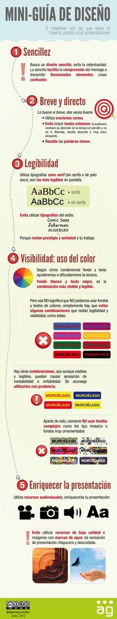 Cómo mejorar el #diseño de tus presentaciones. [infografía] ¿Añadiríais algo más?