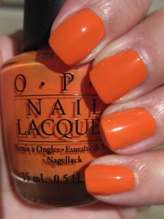 Color orange love this for summer - opi in my back pocket love this for summer - opi in my back pocket Orange Nail Polish, Cute Nail Polish, Opi Nail Polish, Orange Nails, Nail Polishes, Get Nails, Love Nails, How To Do Nails, Opi Nail Colors