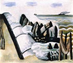 Breakers Artwork by Max Beckmann Hand-painted and Art Prints on canvas for sale,you can custom the size and frame