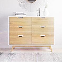 6 Drawer Dresser, Drawers, Ash Tree, Mid Century Dresser, Drawer Fronts, Minimal Fashion, Scandinavian Style, Mid-century Modern, Minimalism